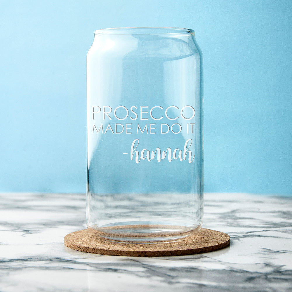 Personalised Guilty Pleasure Can Glass - treat-republic