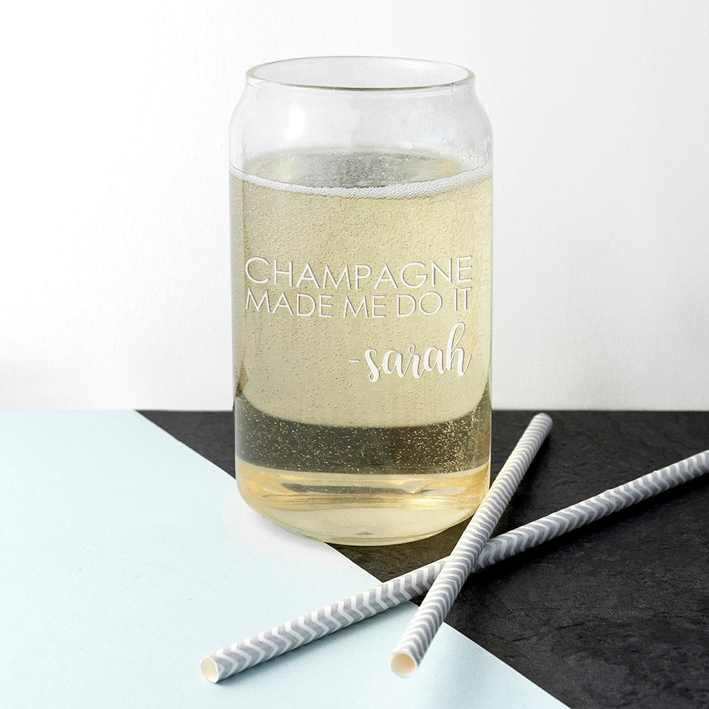 Personalised Guilty Pleasure Can Glass
