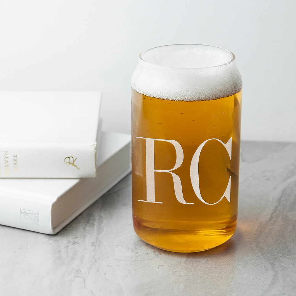 Monogrammed Can Glass - treat-republic
