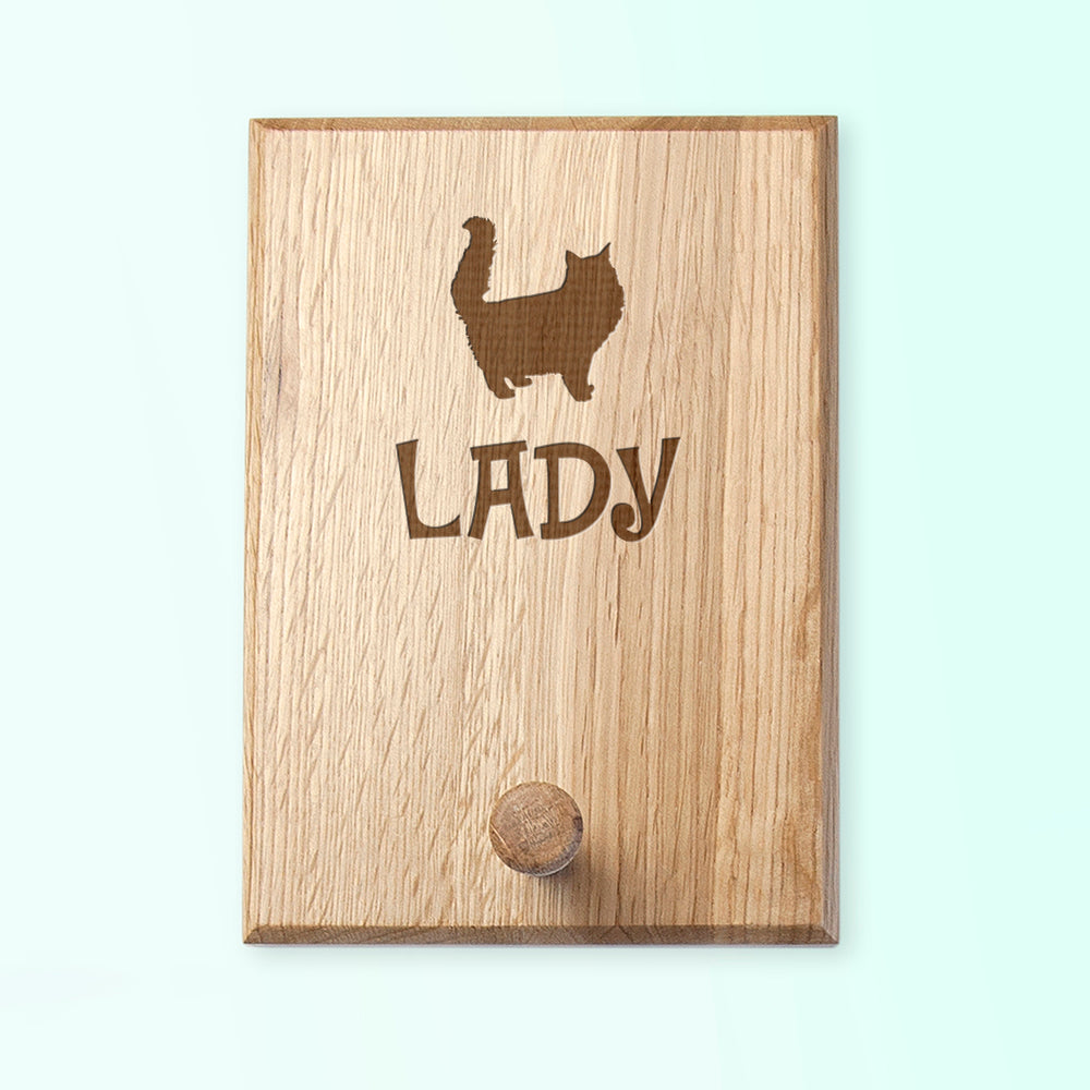 Personalised Cat Silhouette Peg Hook - treat-republic