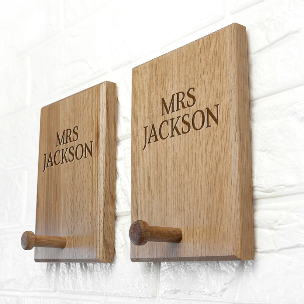 Personalised Classic Couples Peg Hook - treat-republic