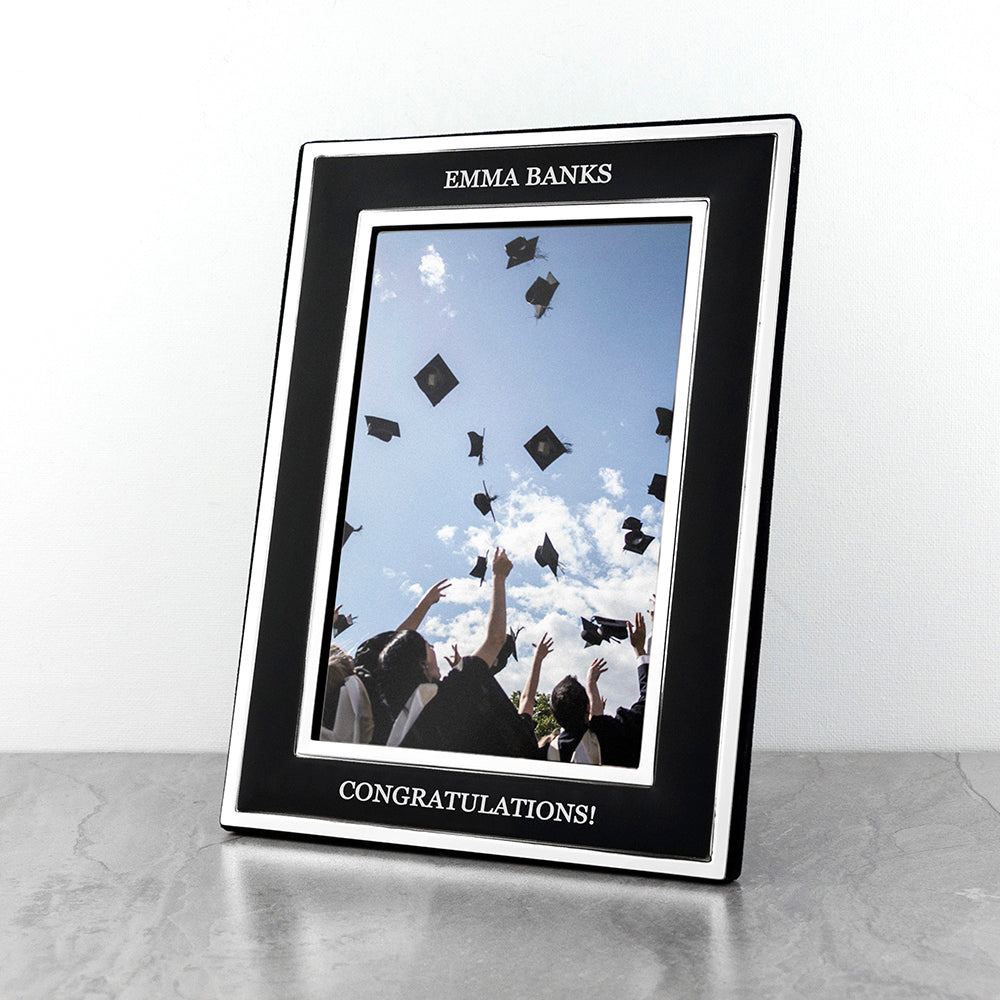 Personalised Silver Plated Graduation Frame - treat-republic
