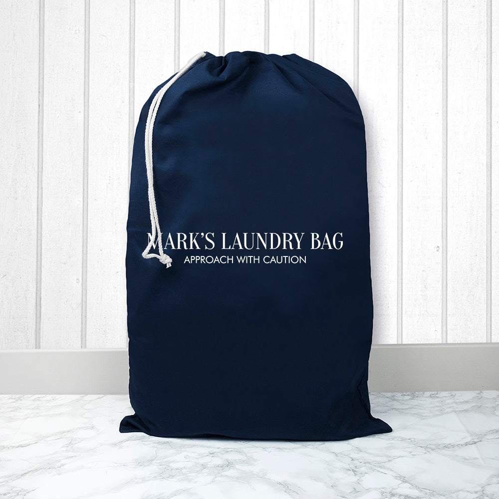 Personalised Large Navy Laundry Bag - treat-republic