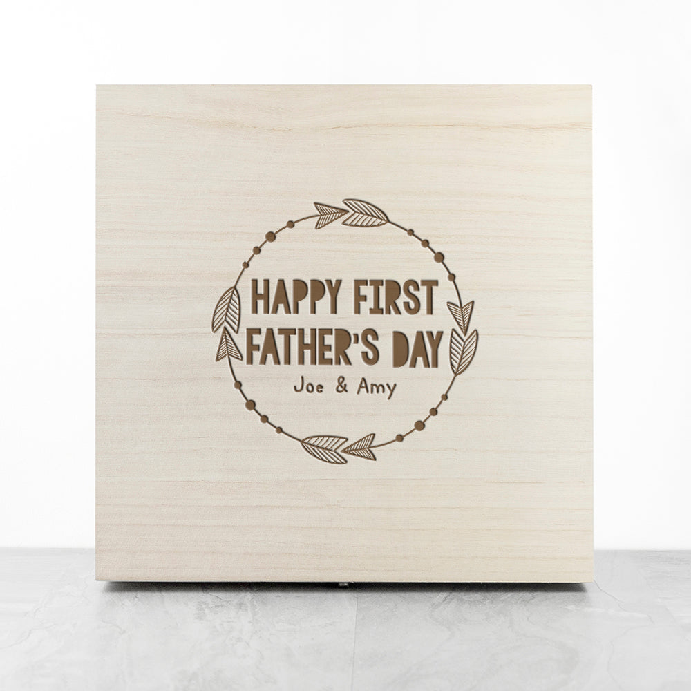 Personalised Happy First Papa Day Box - treat-republic