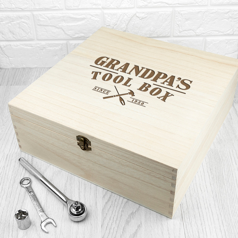 Personalised Wooden Tool Box - treat-republic