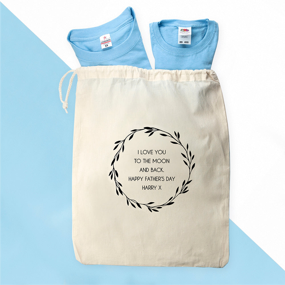 Personalised Daddy and Me Copy Paste Blue T-Shirts - treat-republic