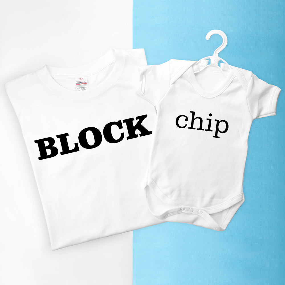 Personalised Daddy and Me Chip off the Old Block Set