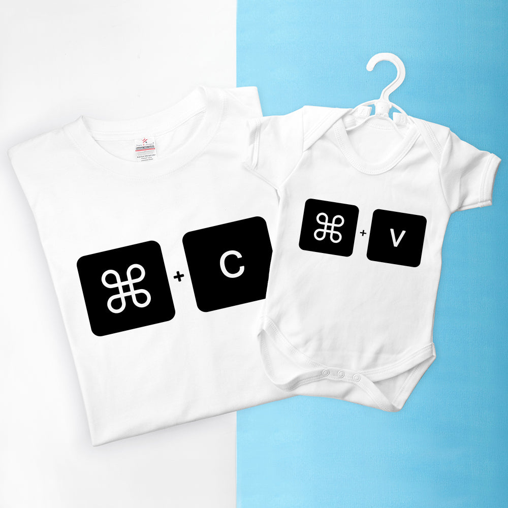 Personalised Daddy and Me Command+V Set - treat-republic
