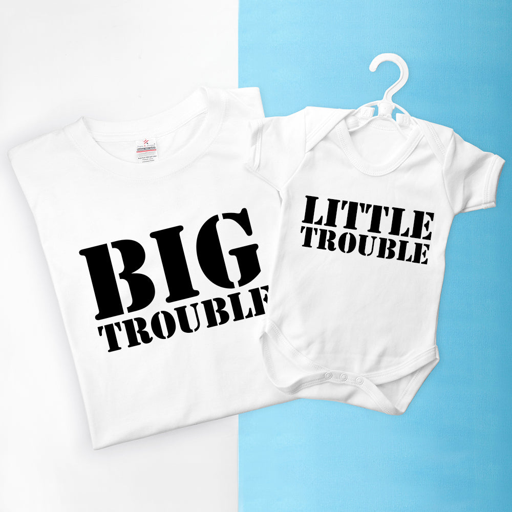Personalised Daddy and Me Here Comes Trouble Set