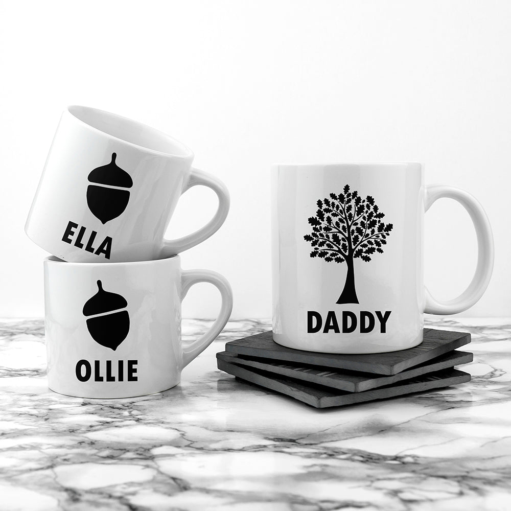 Personalised Daddy & Me Acorn Mugs - treat-republic