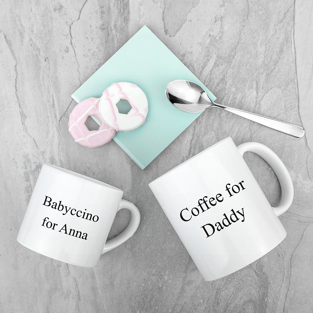Personalised Daddy & Me Together Forever Mugs - treat-republic