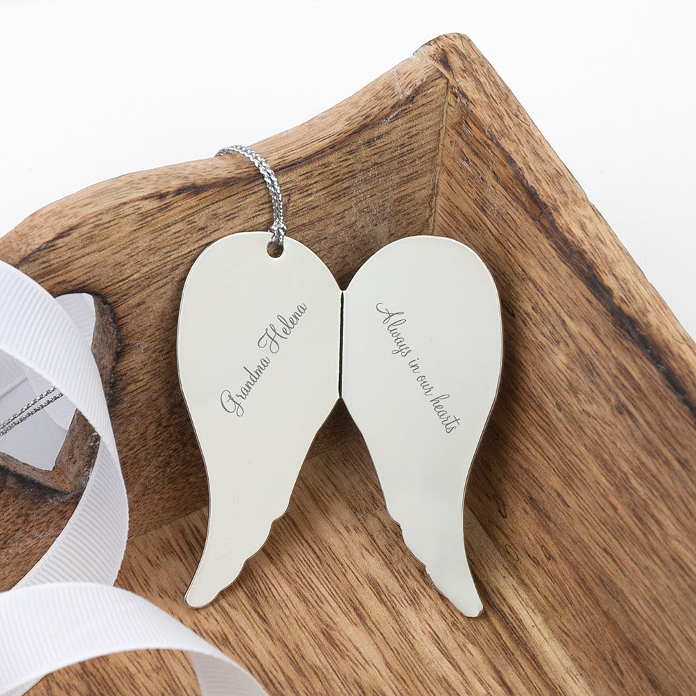 In Memory Angel Wings Keepsake - treat-republic
