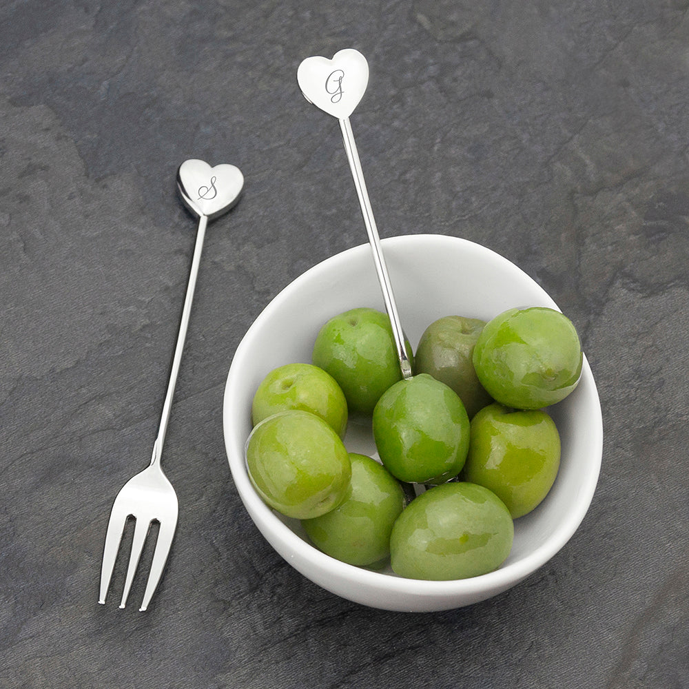 Personalised Heart Tea Forks - treat-republic