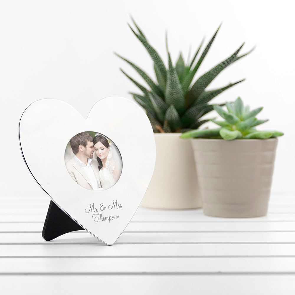 Personalised Heart Photo Frame