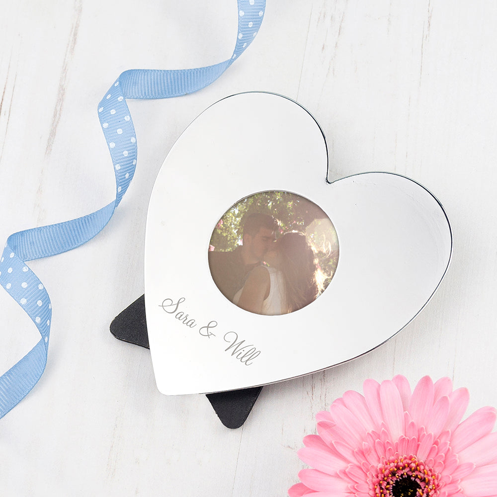 Personalised Heart Photo Frame - treat-republic