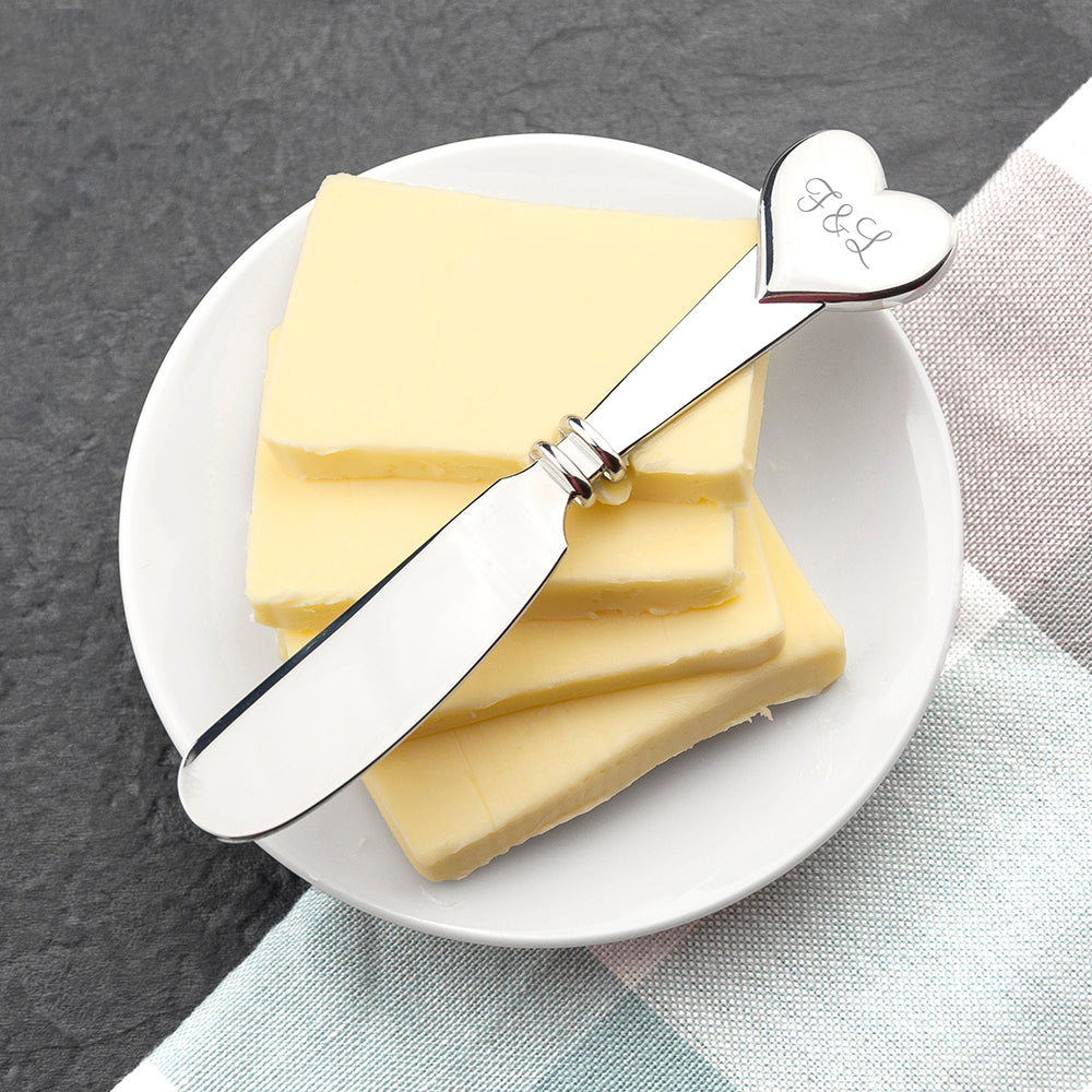 Personalised Heart Butter Knife - treat-republic