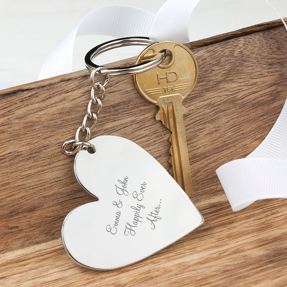 Personalised Heart Key Ring - treat-republic