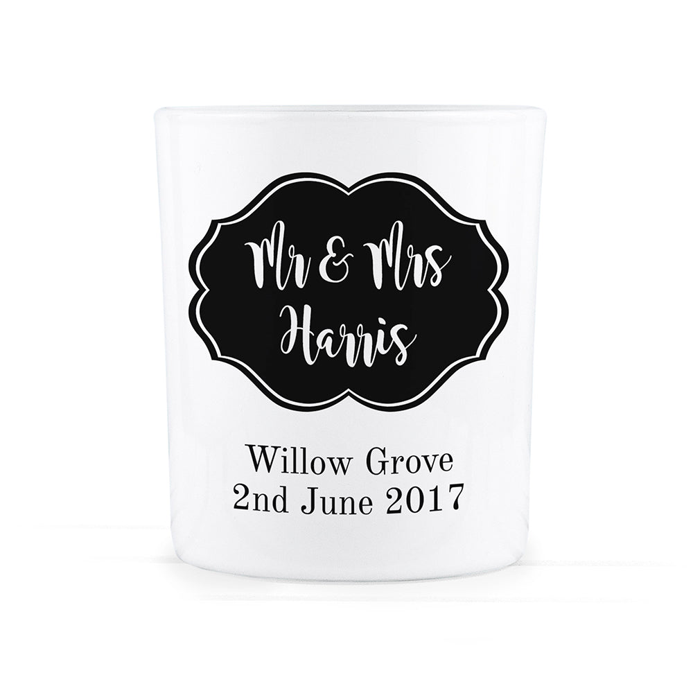 Personalised Classic Mr & Mrs Tealight Holder - treat-republic