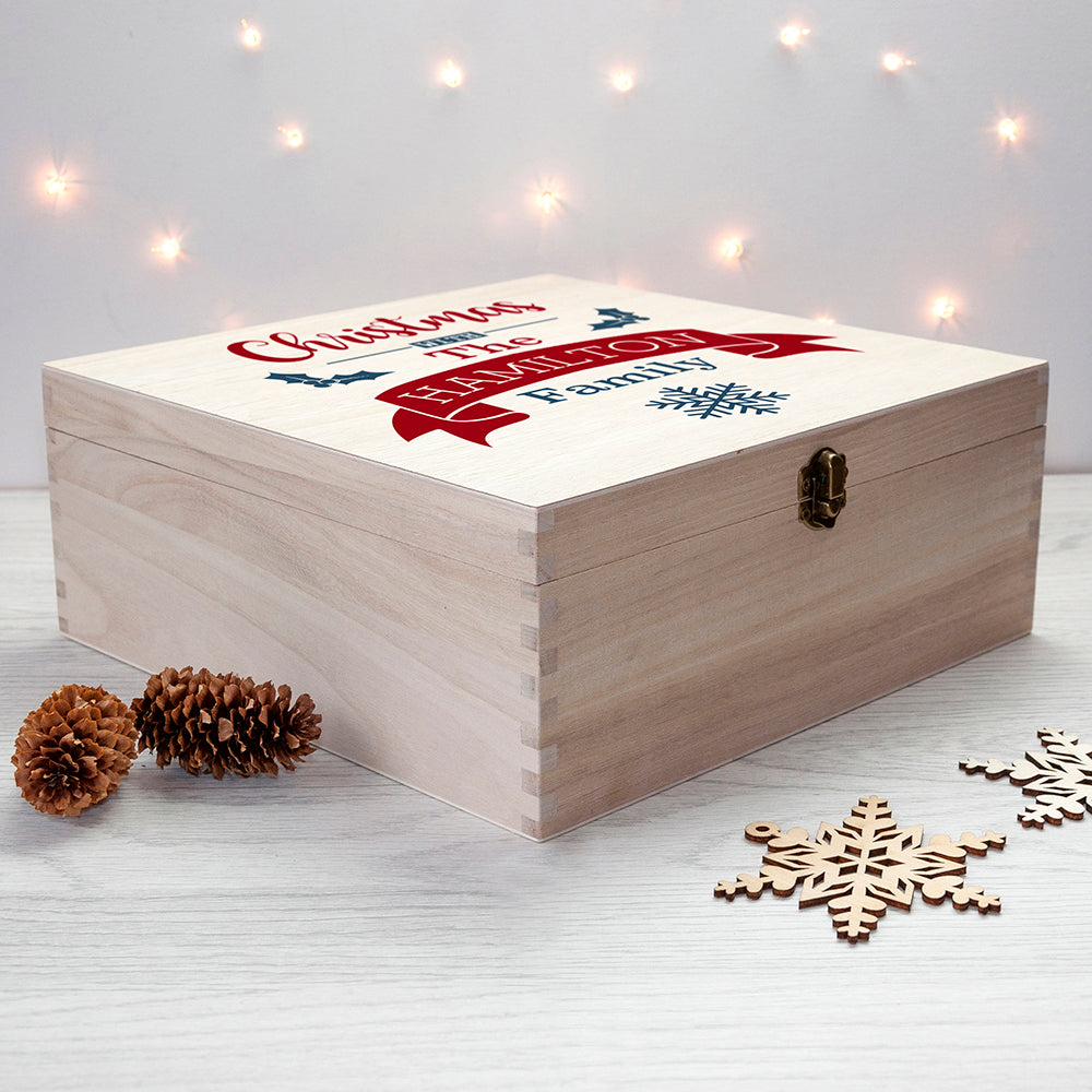 Personalised Our Family's Christmas Eve Box - treat-republic