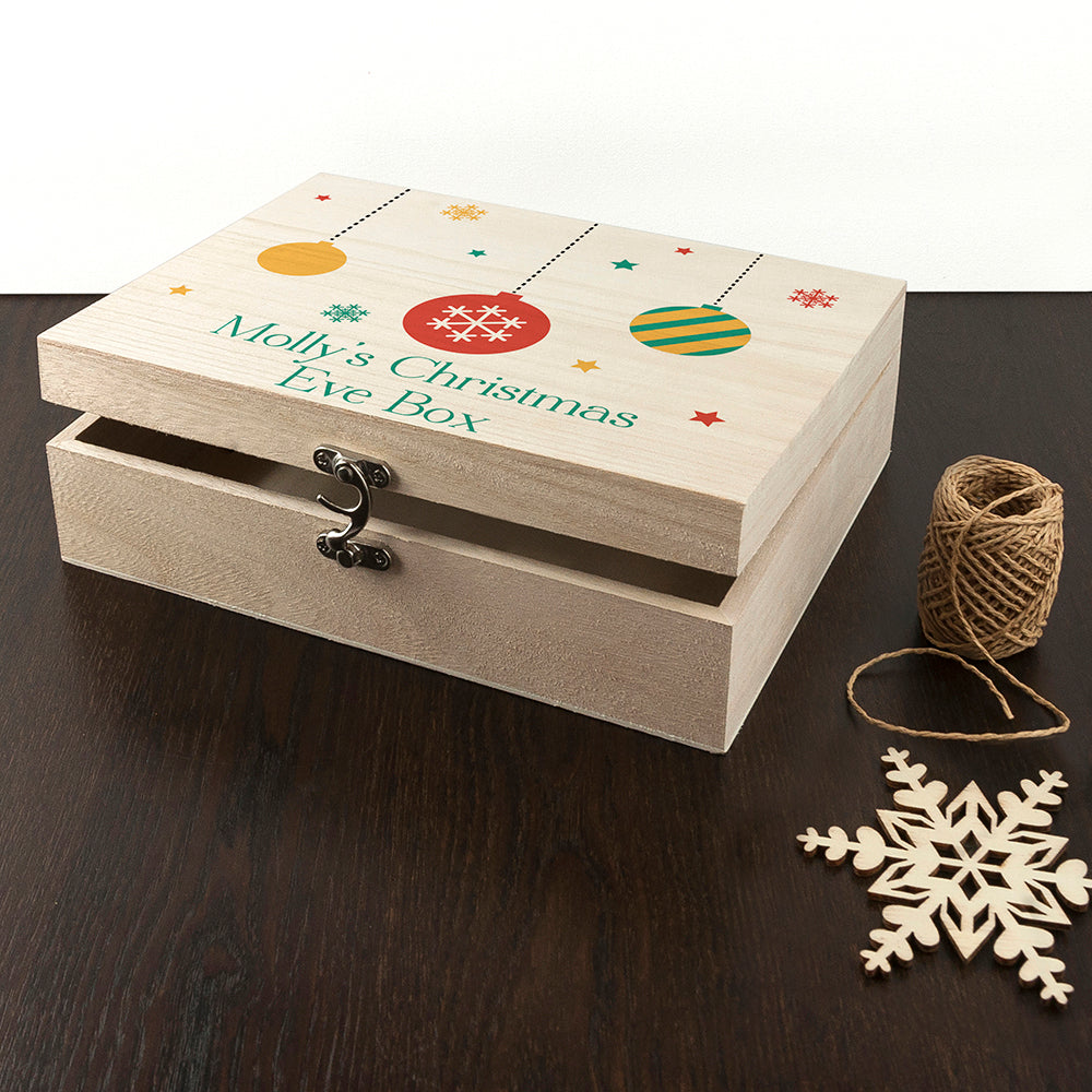 Personalised Bauble Christmas Eve Box - treat-republic