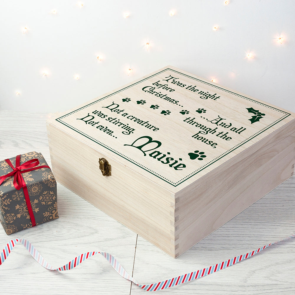 Personalised Pets T'was The Night Before Christmas Eve Box - treat-republic