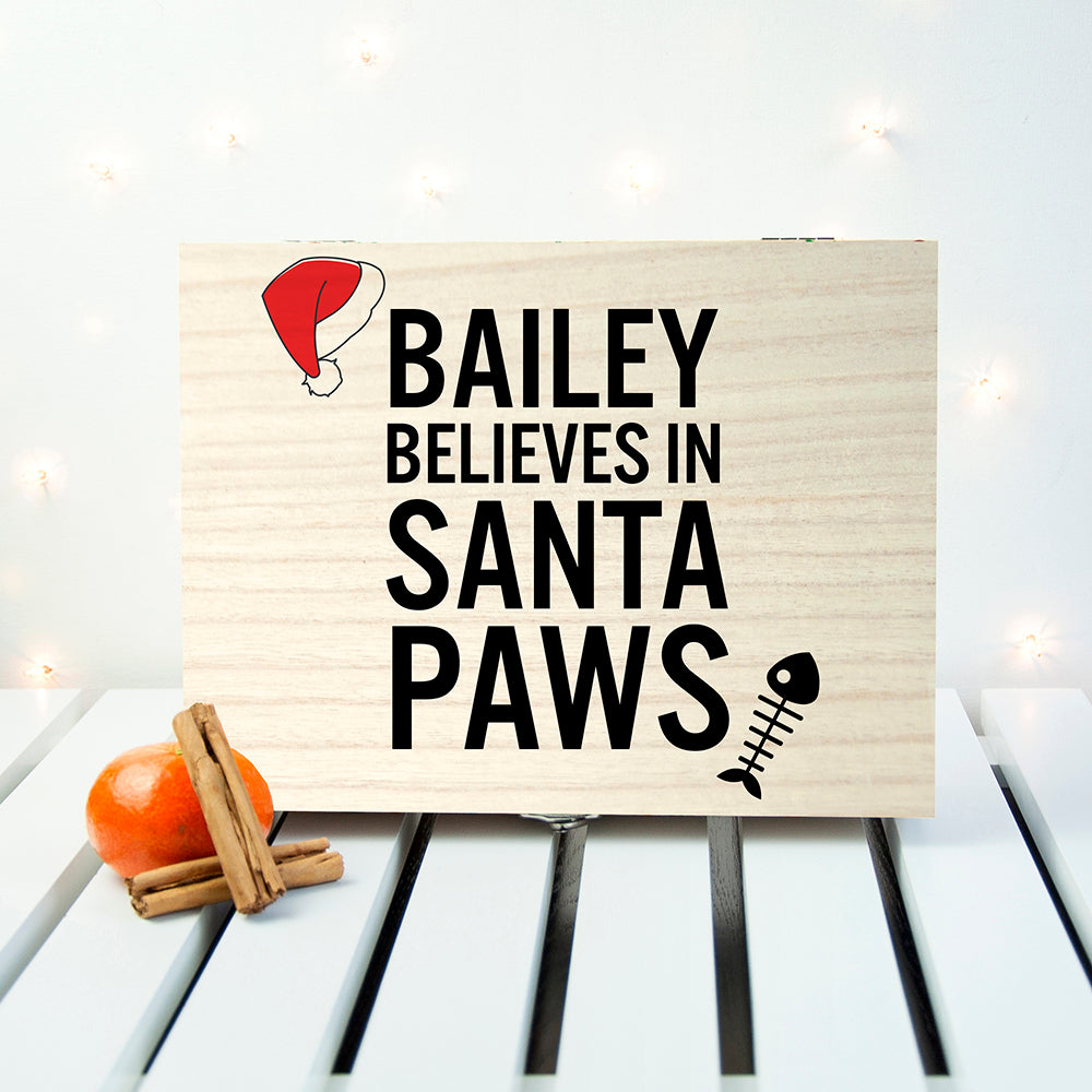 Personalised Pets Santa Paws Christmas Eve Box - treat-republic