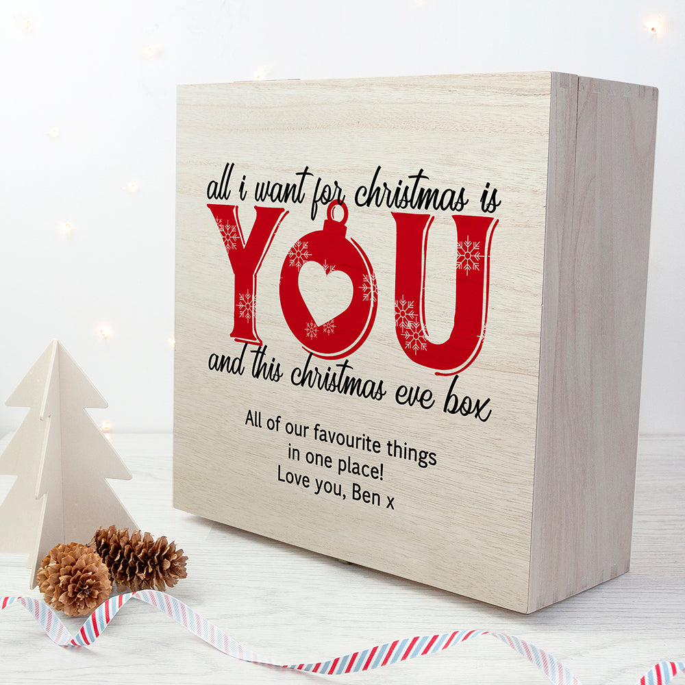 Personalised Romantic Couples Christmas Eve Box - treat-republic