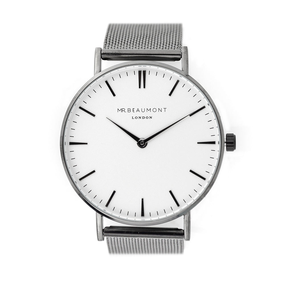 Mr Beaumont Personalised Men's Metallic Charcoal Grey Watch - treat-republic