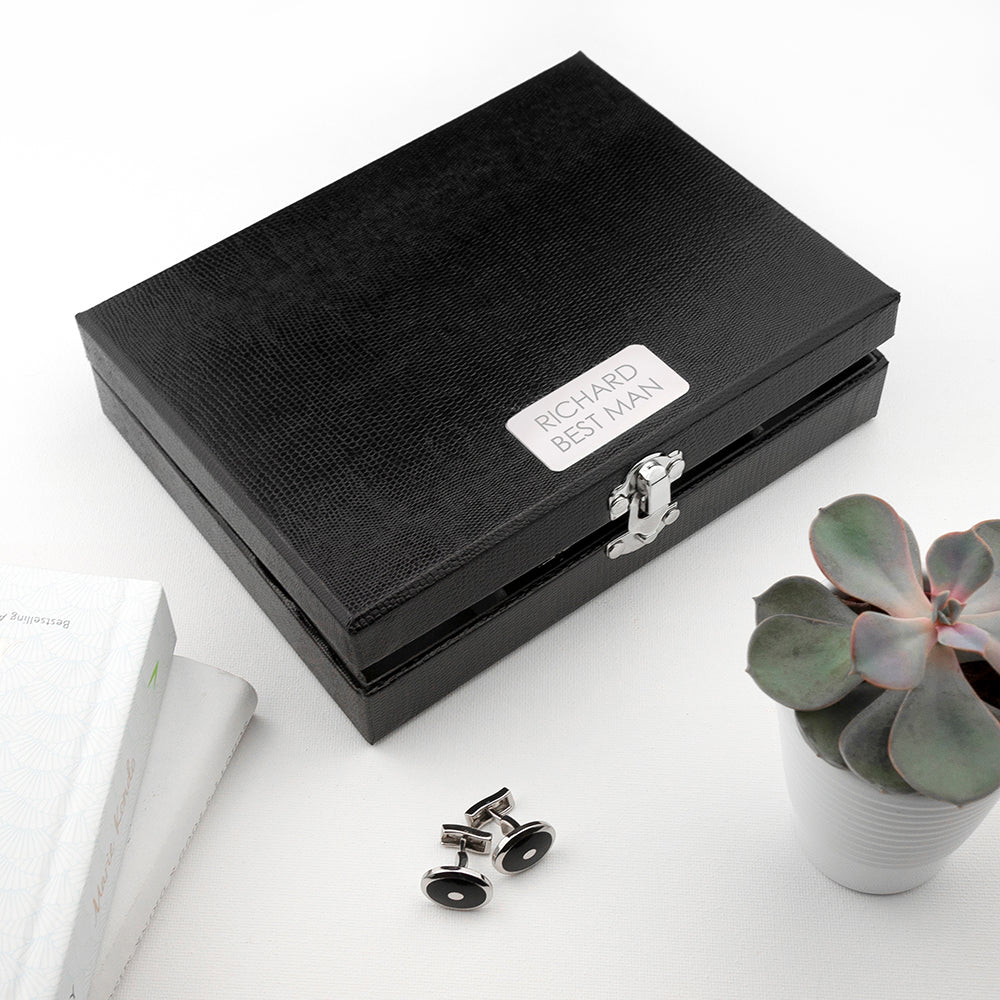 Personalised 12 Compartment Cufflink Box