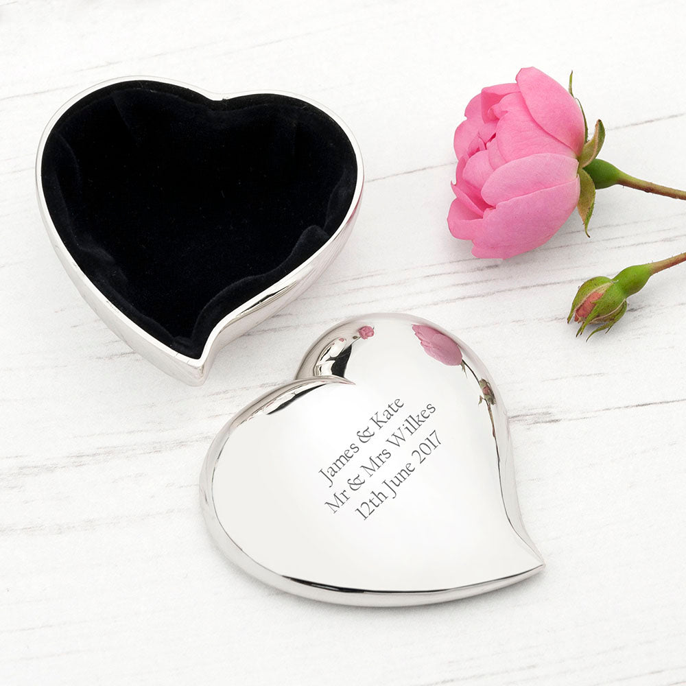 Personalised Miniature Heart Trinket Box - treat-republic