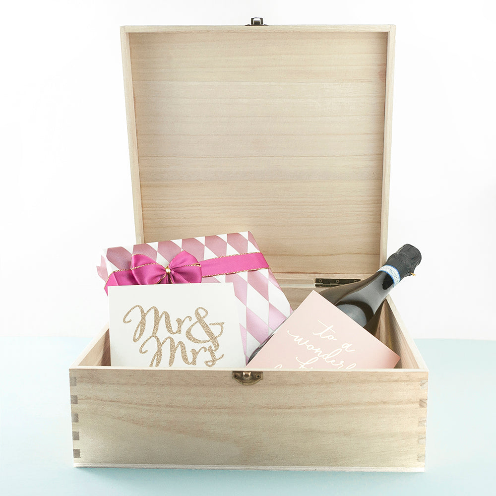 Personalised For My Bride on Our Wedding Day Box - treat-republic