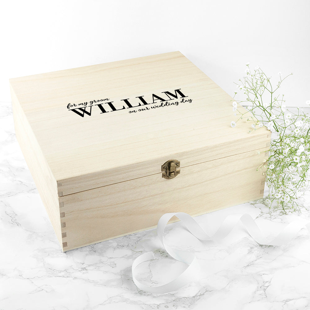 Personalised For My Groom on Our Wedding Day Box - treat-republic
