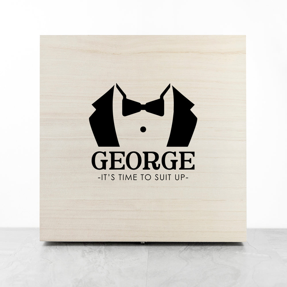 Personalised Suit Up Wedding Box - treat-republic