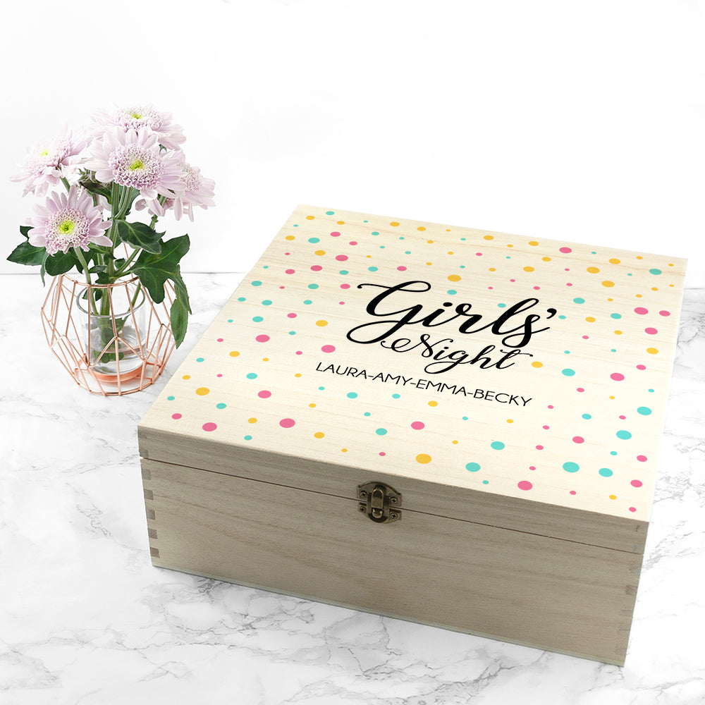 Personalised Polka Dot Girls' Night Box - treat-republic