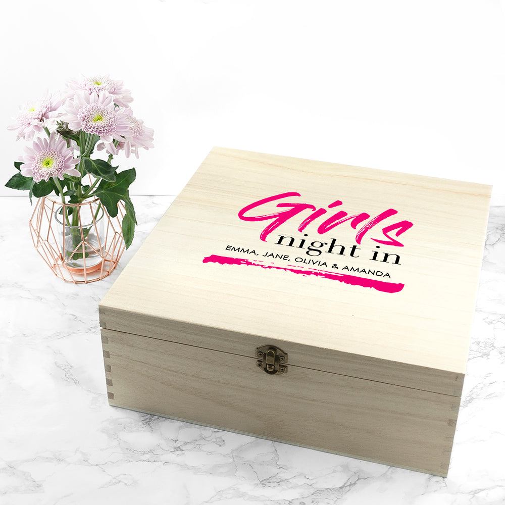 Personalised Girls' Night In Box - treat-republic