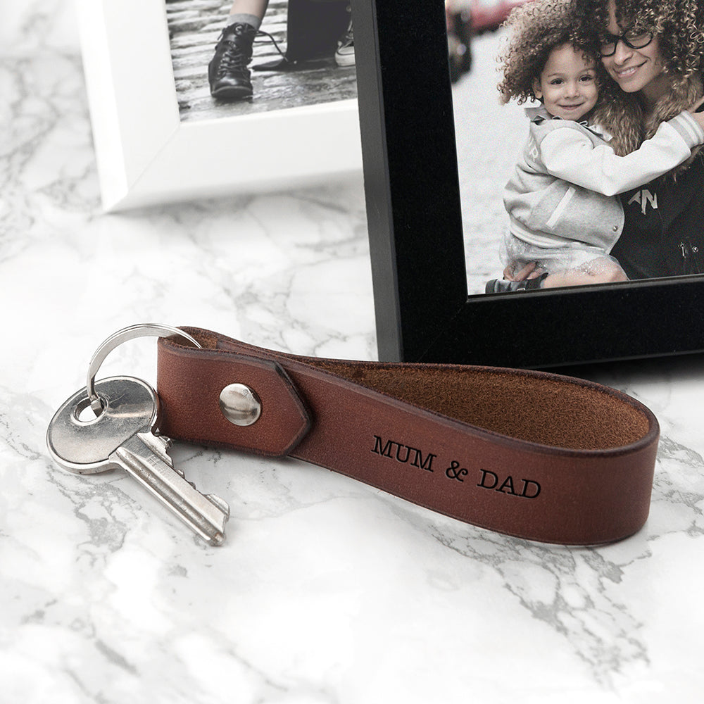Personalised Leather Keyring - treat-republic