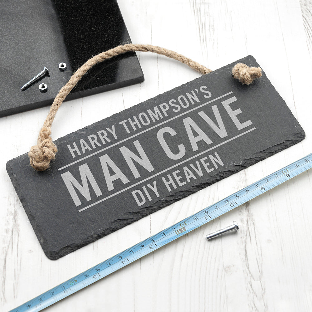 Personalised Slate Man Cave Sign - treat-republic