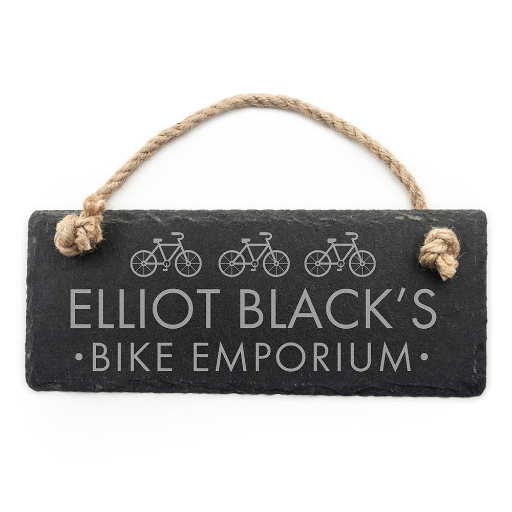 Personalised I Bloody Love My Bicycle Slate Hanging Sign - treat-republic