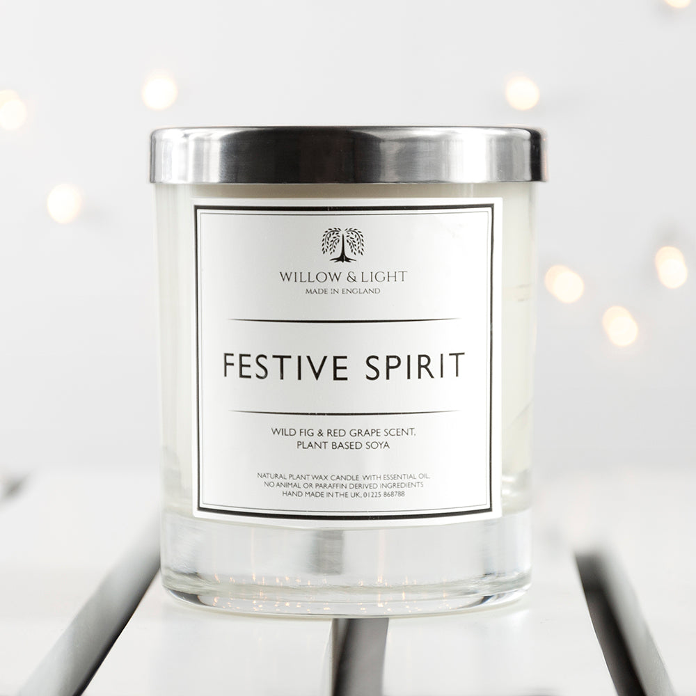 Personalised Festive Spirit Candle - treat-republic
