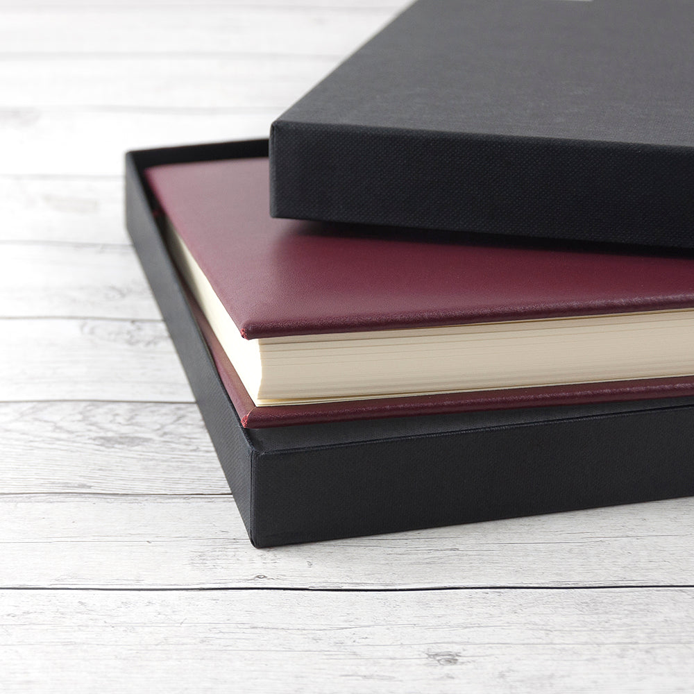 Personalised Burgundy Leather Notebook