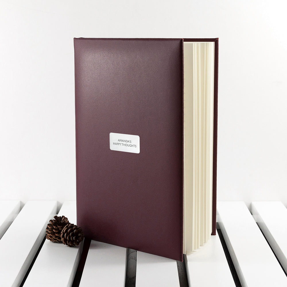 Personalised Burgundy Leather Notebook - treat-republic
