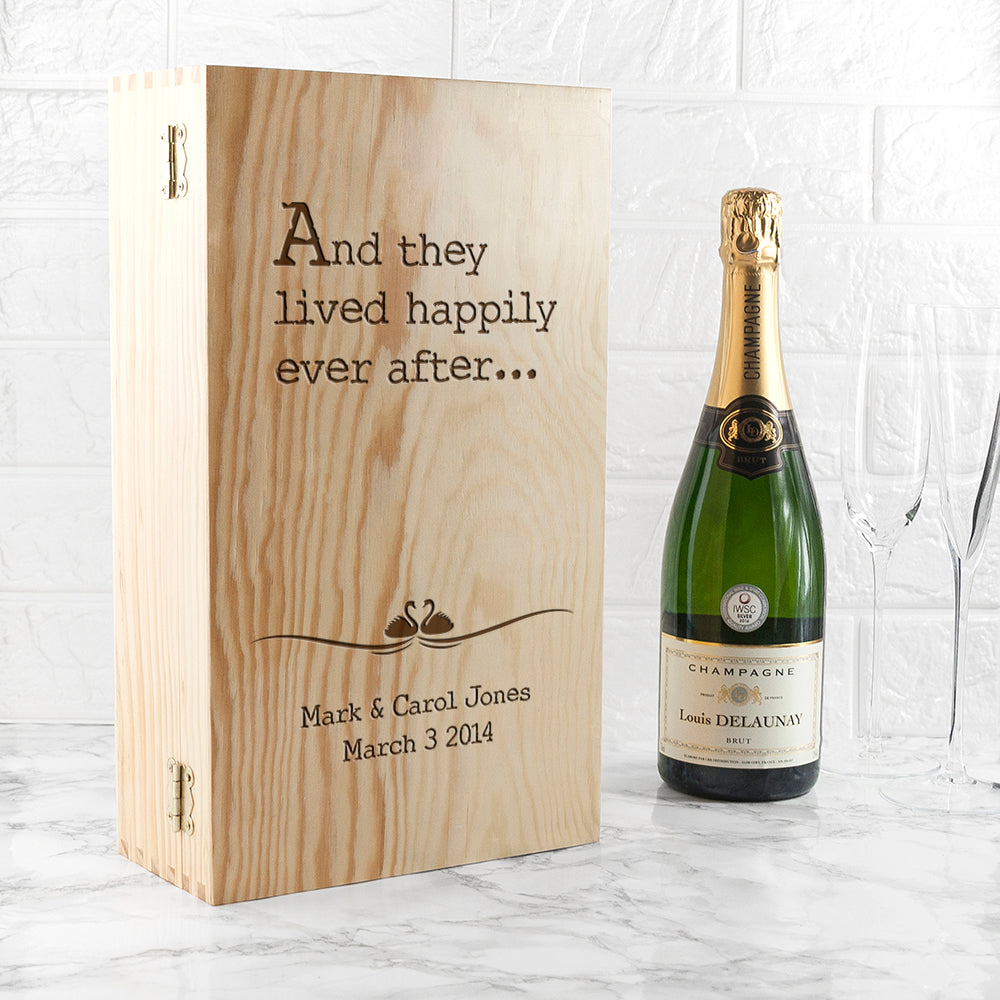 Personalised Fairy Tale Wedding Wine Box - treat-republic