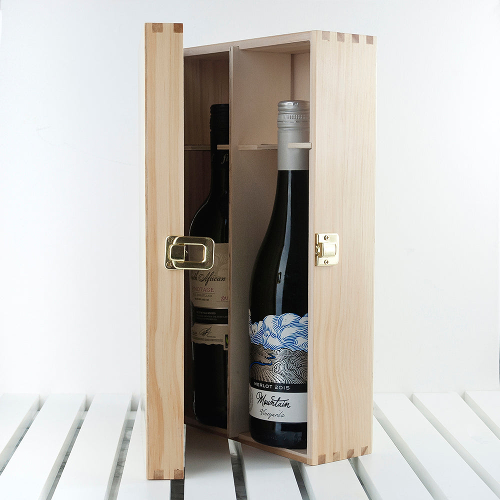 Personalised Just Married Wine Box - treat-republic