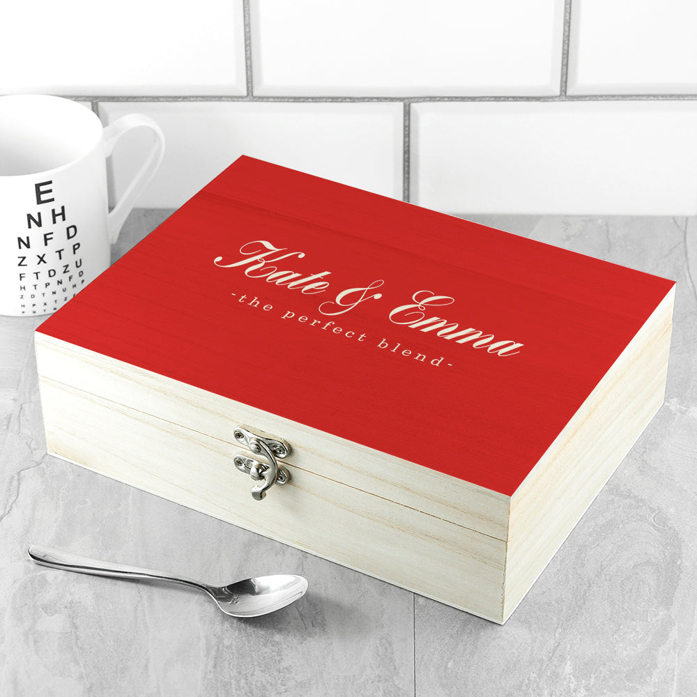 Personalised The Perfect Blend Tea Box - treat-republic