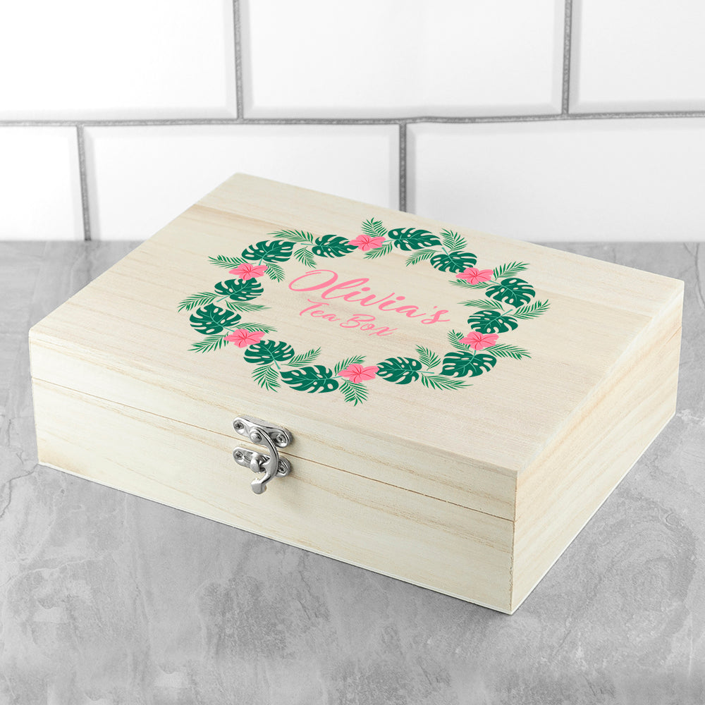Personalised Rainforest Wreath Mother's Day Tea Box - treat-republic
