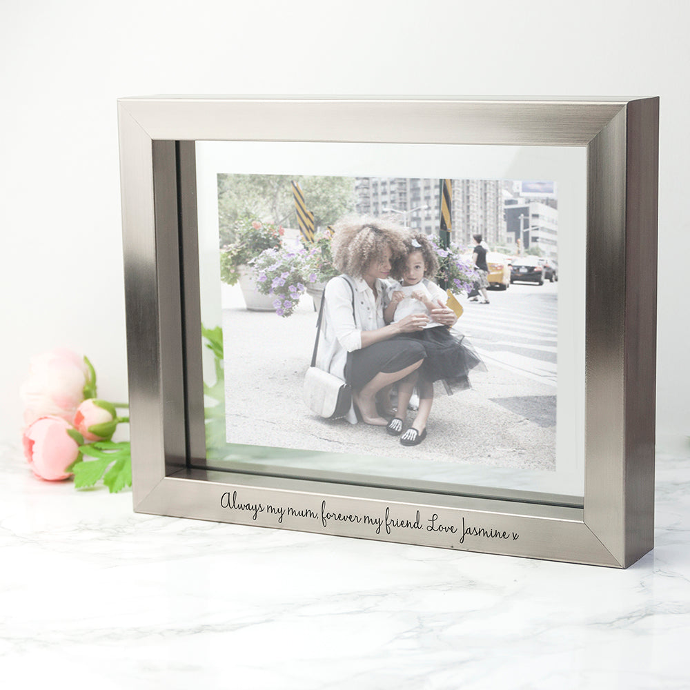 Personalised Metallic Grey Photo Frame