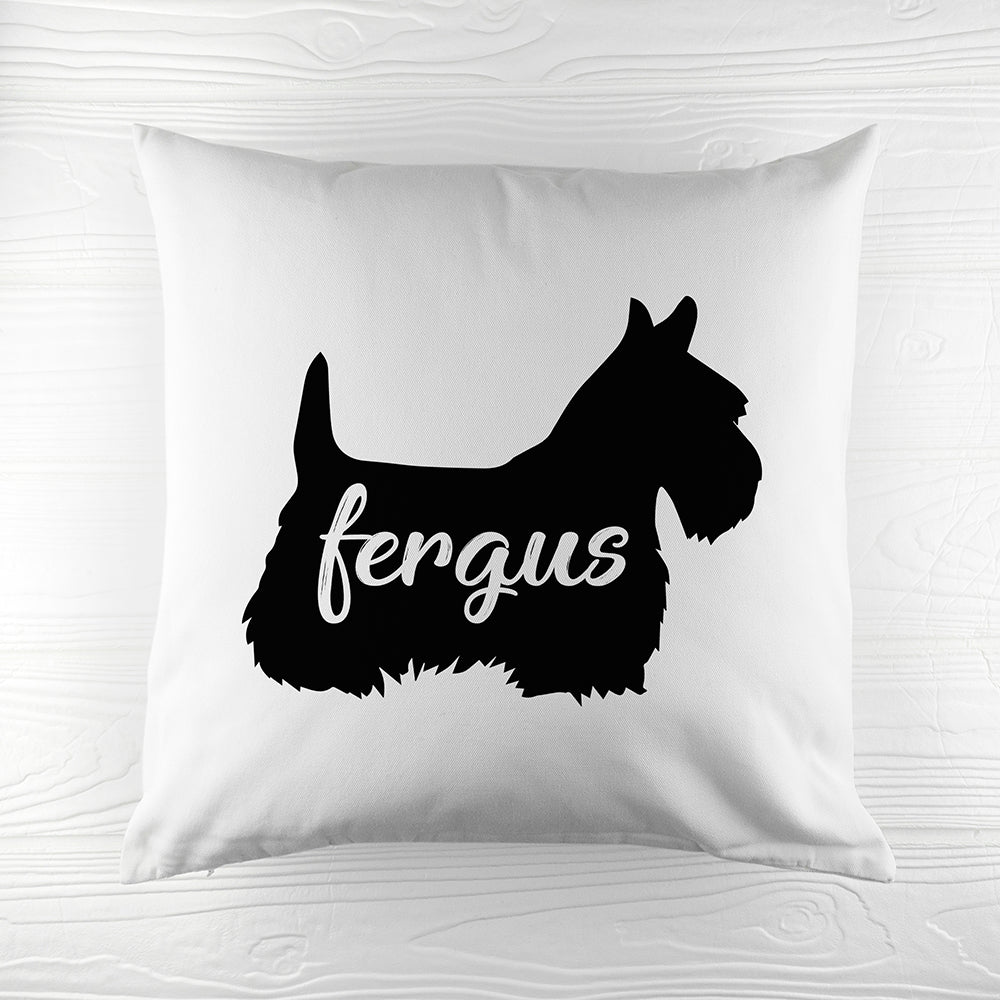 Personalised Scottish Terrier Silhouette Cushion Cover - treat-republic