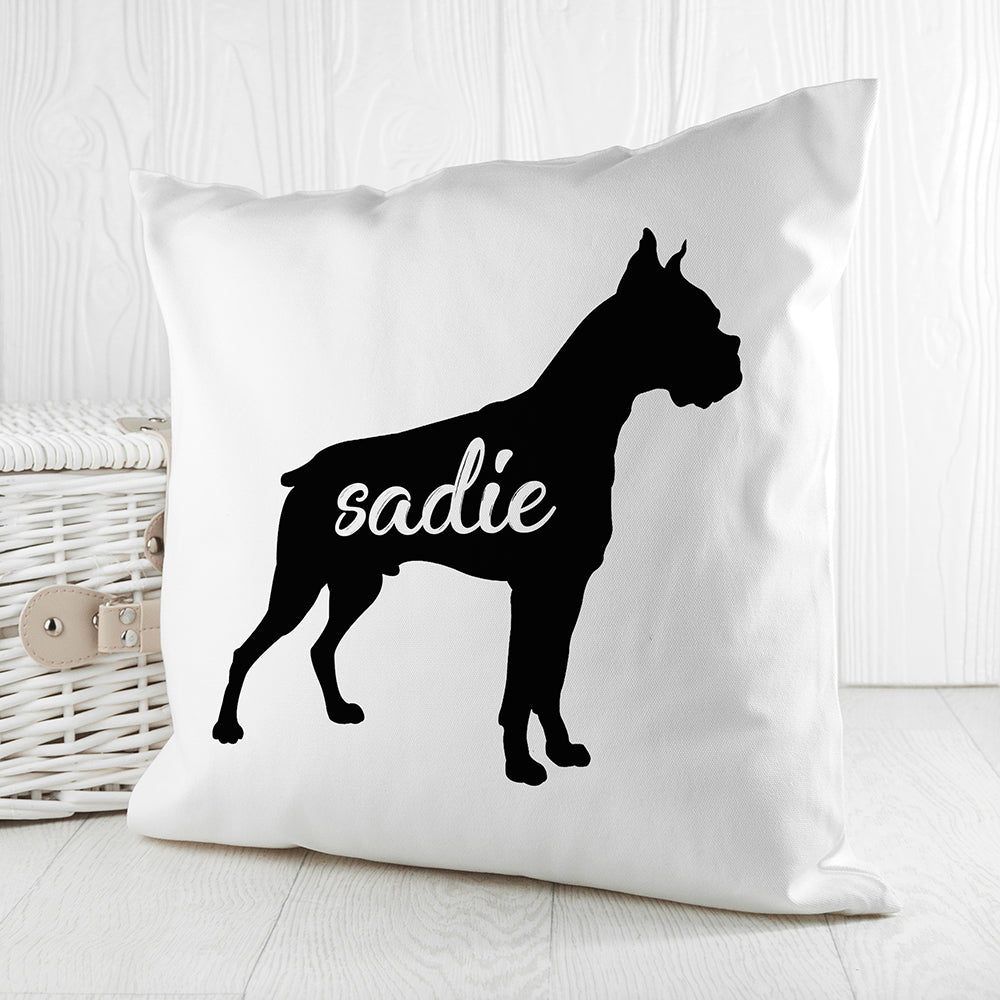 Personalised Boxer Silhouette Cushion Cover - treat-republic