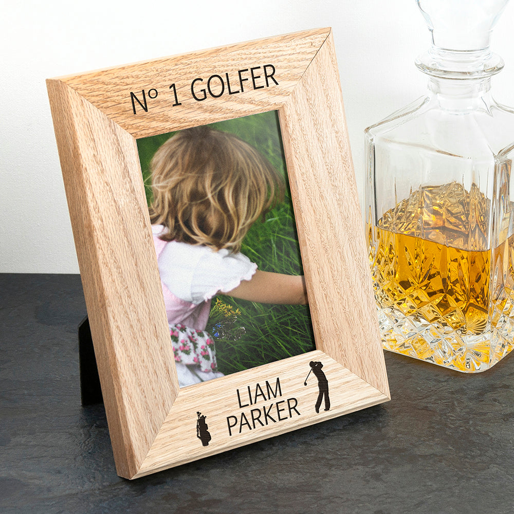 Wordsworth Collection Top Golfer Engraved Photo Frame - treat-republic