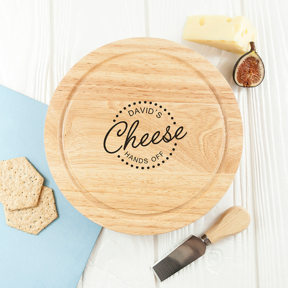 Personalised 'Hands Off' Cheese Board Set - treat-republic